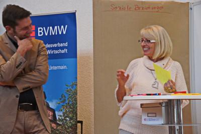 Benjamin Klenke(brainLight) und Beatrice Brenner(BVMW)