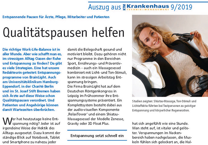 "Artikel in ""Krankenhaus Technik & Management 09-2019"""