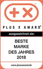 PLUS X AWARD 2018: Beste Marke des Jahres