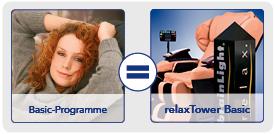 Programmübersicht relaxTower Basic